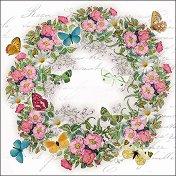 Салфетки за декупаж - Цветен венец - Пакет от 20 броя