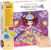 Рисуване с пръсти - Светът на феите - Творчески комплект -