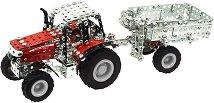 Трактор с ремарке - Massey Ferguson MF-7600 - играчка