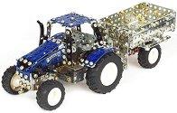 Трактор с ремарке - New Holand - играчка
