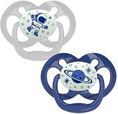 Флуоресцентни залъгалки от силикон със симетрична форма - Advantage -