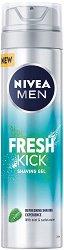 Nivea Men Fresh Kick Shaving Gel - Освежаващ гел за бръснене - продукт