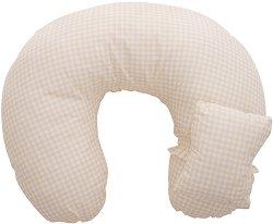 Възглавница за кърмене - Green Checks -