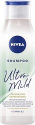Nivea Ultra Mild Refreshing Shampoo - Освежаващ шампоан за мазна коса и скалп - крем