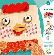 Направи животни - CreaFaces - Дървена детска играчка -