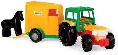 Трактор с ремарке и конче - Детска играчка -