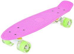 Пениборд - Spice LED - Детски скейтборд с LED светлини и размери 57 x 15 cm -