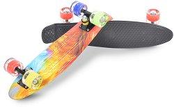 Пениборд - Comics LED - Детски скейтборд с LED светлини и размери 57 x 15 cm -