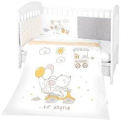 Бебешки спален комплект от 3 части с обиколник - Joyful Mice EU Style -