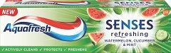 Aquafresh Senses Refreshing Toothpaste - Освежаваща паста за зъби -