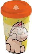 """Бамбукова чаша с капак - Теодор и приятели 400 ml - От серията """"Theodor & Friends"""" -"""
