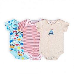 Бебешки бодита - Комплект от 3 броя -
