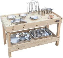 Дървена кухненска маса -