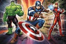 Капитан Америка, Хълк и Железния човек - пъзел