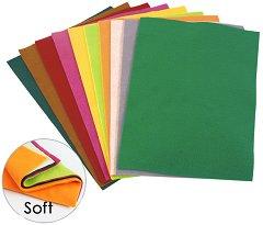 Цветен филц - Комплект от 10  листа във формат A4