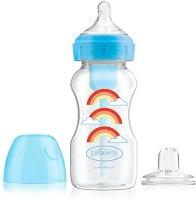 Бебешко шише за хранене с широко гърло - Options+ 270 ml -