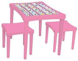 Маса с две столчета -