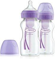 Бебешки шишета за хранене с широко гърло - Options+ 270 ml -