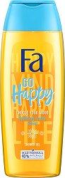 Fa Go Happy Shower Gel - Душ гел с ободряващ плодов аромат - червило