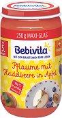 Bebivita - Био пюре от ябълки, сливи и боровинки - пюре
