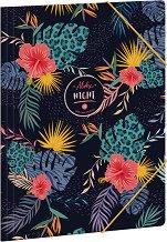 Папка с ластик - Aloha Night - Формат A4