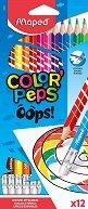 Цветни моливи с гумички - Oops