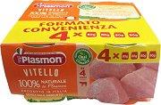 Plasmon - Пюре от телешко месо - Опаковка от 4 x 80 g за бебета над 4 месеца -