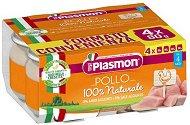 Plasmon - Пюре от пилешко месо - Опаковка от 4 x 80 g за бебета над 4 месеца -