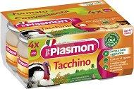 Plasmon - Пюре от пуешко месо - Опаковка от 4 x 80 g за бебета над 4 месеца - пюре