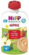 HiPP HiPPiS - Био забавна плодова каша с овес - Опаковка от 100 g за бебета над 6 месеца -