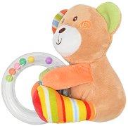 Мече - Плюшена играчка с дрънкалка -