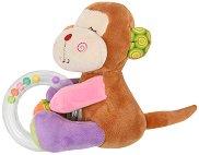 Маймунка - Плюшена играчка с дрънкалка -