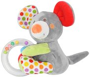 Мишле - Плюшена играчка с дрънкалка -