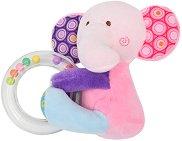 Слонче - Плюшена играчка с дрънкалка -