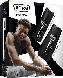 Подаръчен комплект за мъже - STR8 Faith - Дезодорант и душ гел -