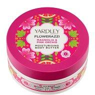 Yardley Flowerazzi Magnolia & Pink Orchid Moisturising Body Butter - Хидратиращо масло за тяло с аромат на магнолия и розова орхидея - сапун