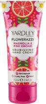 Yardley Flowerazzi Magnolia & Pink Orchid Nourishing Hand Cream - Подхранващ крем за ръце с аромат на магнолия и розова орхидея -
