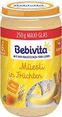 Bebivita - Био каша от плодове с мюсли - Бурканче от 250 g за бебета над 6 месеца -