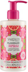 Yardley Flowerazzi Magnolia & Pink Orchid Smoothing Body Lotion - Изглаждащ лосион за тяло с аромат на магнолия и розова орхидея - крем
