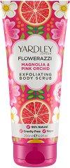 Yardley Flowerazzi Magnolia & Pink Orchid Exfoliating Body Scrub -