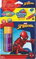 Двустранни цветни моливи - Спайдърмен