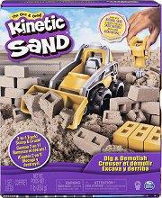 """Кинетичен пясък - Строителна площадка - Детски комплект от серията """"KInetic Sand"""" -"""