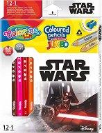 Цветни моливи Jumbo - Star Wars