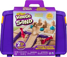 """Кинетичен пясък в куфарче - Детски комплект за игра от серията """"KInetic Sand"""" -"""