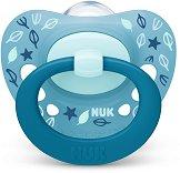 Залъгалка от силикон с ортодонтична форма - Signature - Комплект с кутия за съхранение за бебета от 6 до 18 месеца -