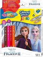 Цветни моливи Jumbo - Замръзналото кралство