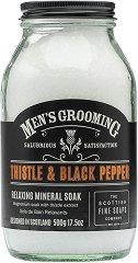 Scottish Fine Soaps Men's Grooming Thistle & Black Pepper Relaxing Mineral Soak -