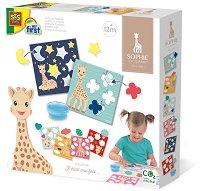 """Уча се да лепя - Жирафчето Софи - Творчески комплект от серията """"Tiny Talents"""" -"""