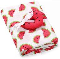 Бебешка бамбукова пелена - Watermelon -