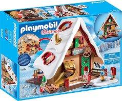 """Пекарна за коледни сладки - Детски конструктор от серията """"Playmobil - Коледа"""" - играчка"""